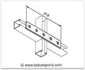 5 Hole Straight Mending Plate strut channel brackets bracketry manufacturers exporters india