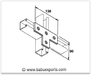 T Bracket 4 Hole strut channel brackets bracketry manufacturers exporters india