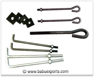 Foundation Bolts fasteners manufacturers exporters india