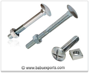 Cup Square Bolt Nut fasteners manufacturers exporters india