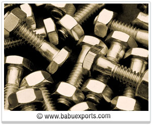 Hex Head Bolts with Hex Nuts fasteners manufacturers exporters india