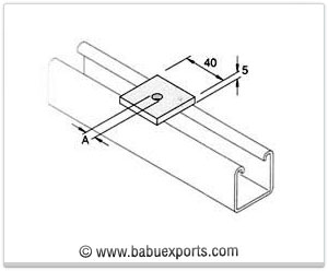 Square Plate / Square Washer strut channel brackets bracketry manufacturers exporters india