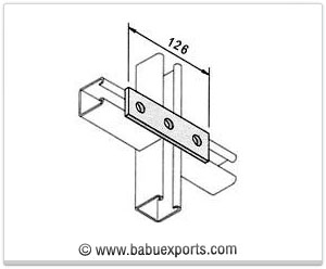 3 Hole Straight Mending Plate strut channel brackets bracketry manufacturers exporters india