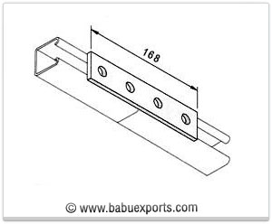 4 Hole Straight Mending Plate strut channel brackets bracketry manufacturers exporters india