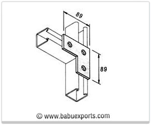 L Bracket 3 Hole strut channel brackets bracketry manufacturers exporters india