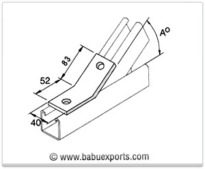 Obtuse Angle Bracket strut channel brackets bracketry manufacturers exporters india