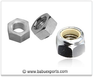 Hex Head Nut, Nylock Nut fasteners manufacturers exporters india