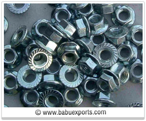 Flange Nuts fasteners manufacturers exporters india