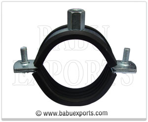 Pipe Clamp with Rubber Lining manufacturers exporters india