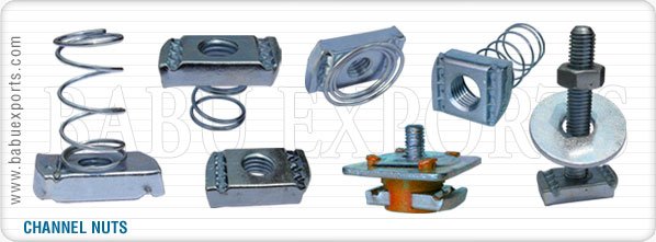 strut spring channel nuts manufacturers exporters suppliers india