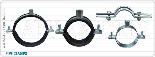 strut channel pipe clamps manufacturers exporters suppliers india
